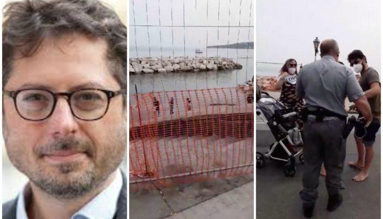 """Show di Francesco Emilio Borrelli sul lungomare: """"Sto fotografando la transenna"""" ma era in diretta e riprendeva minori. Poi chiede aiuto per l'aggressione che non c'è"""