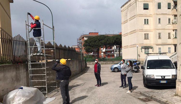 """Illuminazione pubblica a San Giorgio a Cremano, al via gli interventi negli alloggi residenziali di via Tufarelli.Il sindaco Giorgio Zinno: """"Più efficienza ed economia"""""""
