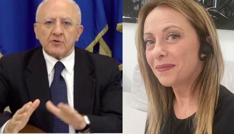 """Giorgia Meloni: """"Il Governatore della Campania De Luca? Un personaggio da avanspettacolo"""""""