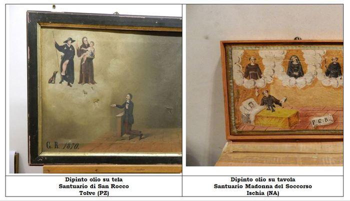 """Tornano a """"casa"""" i 50 dipinti ex voto rubati, la consegna delle opere al cardinale Crescenzio Sepe e ai vescovi"""