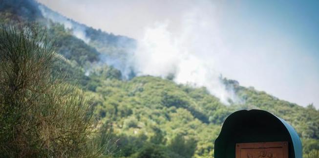 Incendio nel Parco del Vesuvio, case a rischio nell' area di Torre del Greco