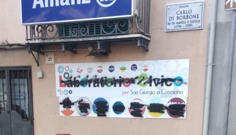 """ELEZIONI AMMINISTRATIVE A SAN GIORGIO A CREMANO 2020 – Imbrattata la sede del candidato Giovanni Marino: """"Ci batteremo per una campagna elettorale pulita"""""""