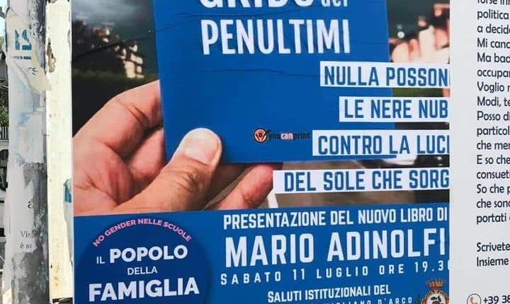 """I giovani e la sinistra di Pomigliano contro la manifestazione di Mario Adinolfi di domani. Michele Tufano: """" Stracciate subito questo manifesto altrimenti vi mostreremo come Pomigliano accoglie gli omofobi"""""""