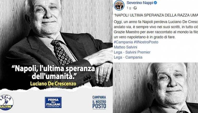 ELEZIONI REGIONALI IN CAMPANIA 2020 – Bufera social per il post di Nappi con la foto di De Crescenzo