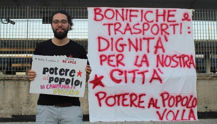 """IL FUTURO DELLA CAMPANIA È ADESSO, PARTE DAL """"BASSO"""" LA CAMPAGNA ELETTORALE DI Christian De Luca (POTERE AL POPOLO)"""