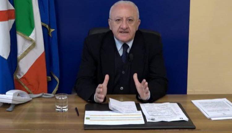 Appalti Covid, il Governatore Vincenzo De Luca: «Gare in assoluta trasparenza»