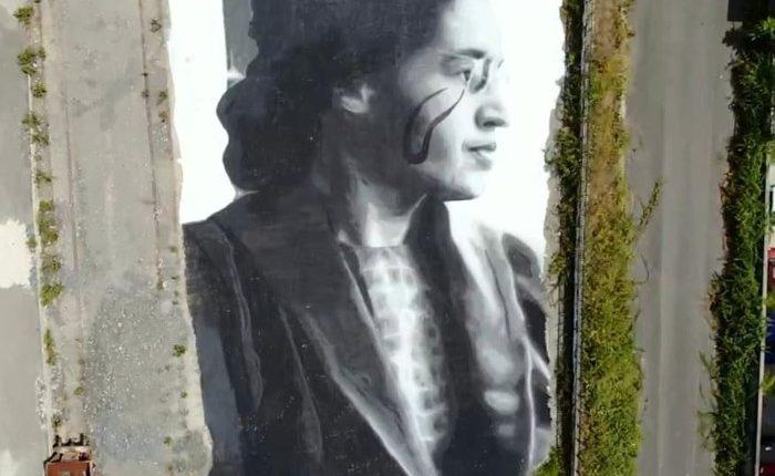 A Quarto il murales con Rosa Louise Parks firmato Jorit, simbolo della lotta per i diritti civili