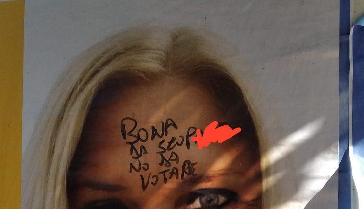 ELEZIONI AMMINISTRATIVE SANT'ANASTASIA 2020 – Si apre la campagna elettorale, imbrattati con scritte sessiste i manifesti della psicologa Cettina GIliberti. Da destra a sinistra la solidarietà sul web