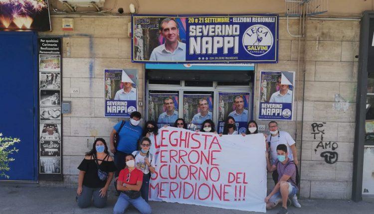 ELEZIONI REGIONALI CAMPANIA 2020 – A Volla attivisti e cittadini protestano per l'apertura di una sezione della Lega di Salvini