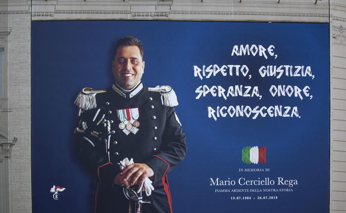 La Lega Pro ricorda il carabiniere Cerciello Rega, in occasione del 25 settembre giornata della legalità