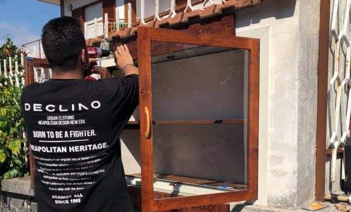 LA CULTURA FREE – A San Sebastiano al Vesuvio grazie all'artigiano Orlando Zuccoli e all'Associazione Culturale Matilde Serao in arrivo una Little free Library