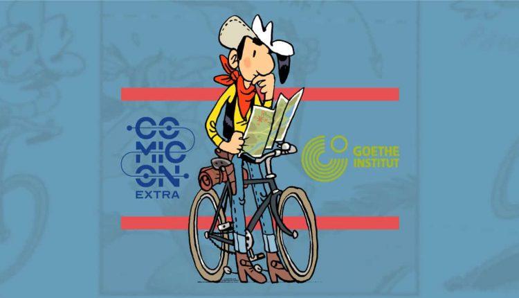 """Goethe – Comicon: """"In bici con Lucky Luke"""" in mostra fino al 18 dicembre a Palazzo Sessa"""
