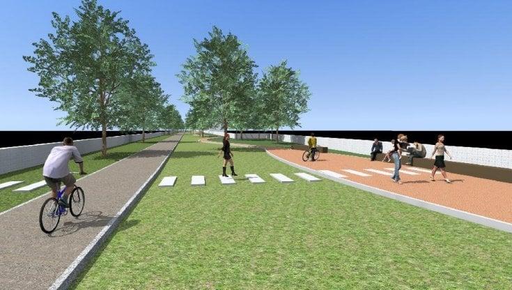 Dal Vesuvio al mare in bicicletta: inaugurato il cantiere per la pista ciclabile sulla Torre-Cancello