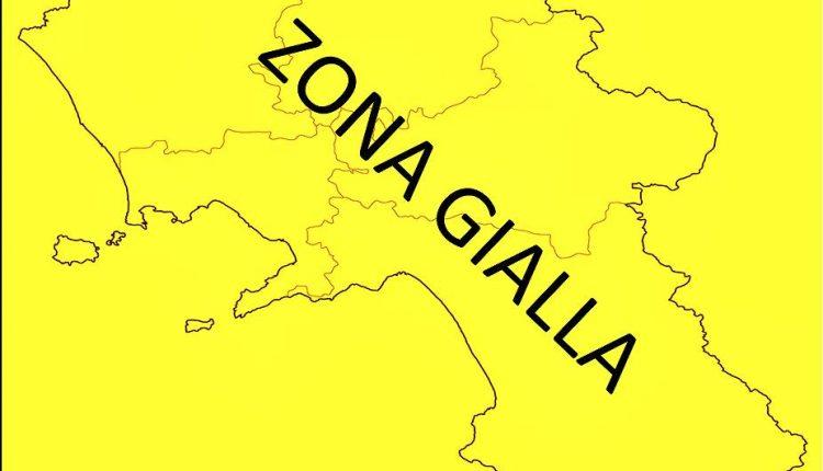 Campania verso la zona gialla dal 20 dicembre