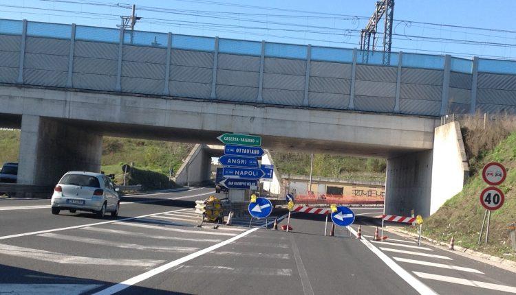 Strada statale 268, l'Anas chiude lo svincolo di Somma-Pomigliano allo svincolo di Somma Vesuviana fino al 23 dicembre