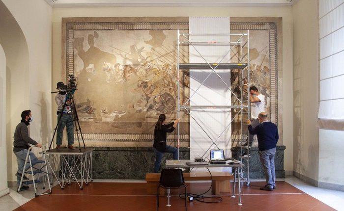 Al via il restauro del Mosaico di Alessandro Magno, meraviglia di Pompei, il direttore Paolo Giulierini: 'Cantiere trasparente e tecnologie'