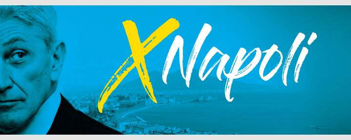 """""""X Napoli"""", ecco il logo di Antonio Bassolino per la corsa a sindaco: """"Al servizio della città, con la testa in avanti"""""""