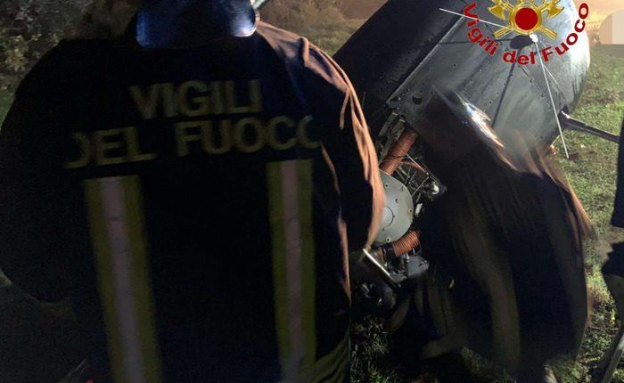 Cade elicottero nel Casertano, una donna di Marigliano morta e il pilota ferito