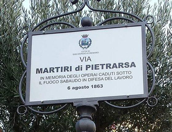 """A San Giorgio a Cremano, un monumento per i Martiri di Pietrarsa. Il sindaco Zinno:""""Onoriamo i primi operai morti per difendere il proprio posto di lavoro"""""""