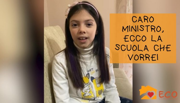"""""""Caro Ministro"""", i bimbi napoletani scrivono a Patrizio Bianchi: """"Chiediamo una scuola più colorata, più vicina a noi con lezioni all'aperto"""". Ecco l'iniziativa della cooperativa Sociale Eco onlus"""