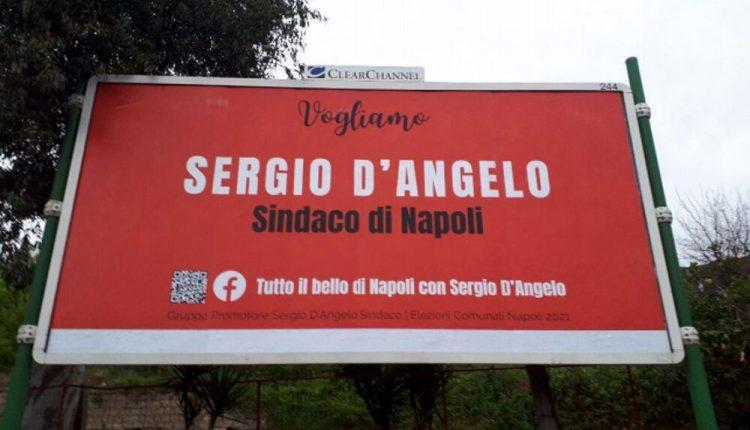 VERSO LE COMUNALI A NAPOLI – Per strada i manifesti per la candidatura di Sergio D'Angelo a sindaco e la nascita spontanea del comitato