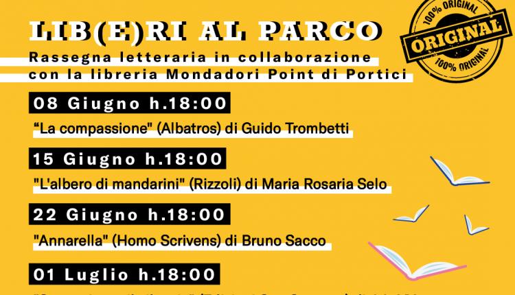 """Al via a Portici, nel bene comune Villa Fernandes, la terza edizione della rassegna letteraria """"Lib(e)ri al parco"""""""