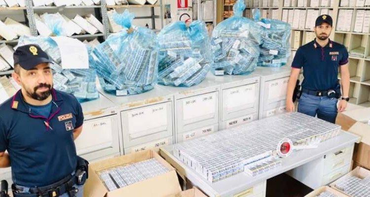 Sequestrati dalla Polizia a Ponticelli 7460 pacchetti di sigarette di contrabbando