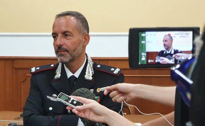 Si insedia generale Scandone, nuovo comandante provinciale dei Carabinieri