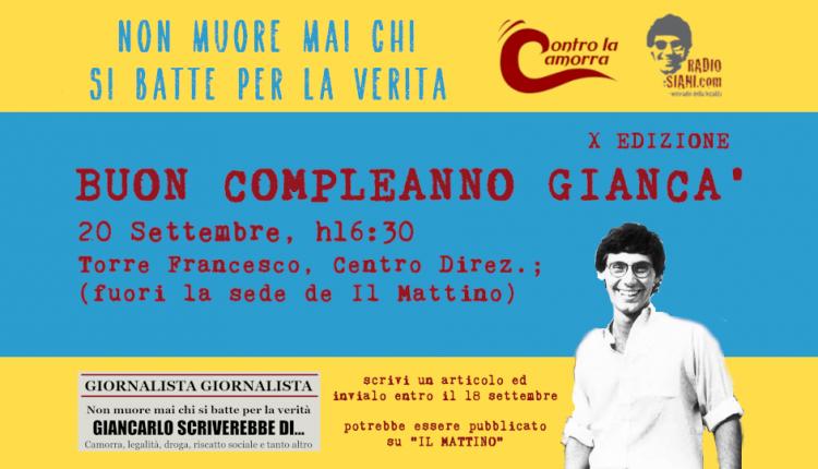BUON COMPLEANNO GIANCA – Un contest giornalistico per ricordare Giancarlo Siani