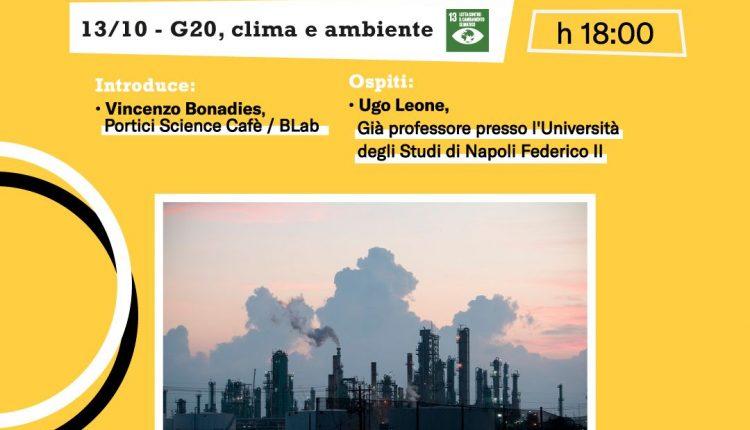 """Torna a Portici Science Cafèall'interno della rinnovata Villa Fernandes, il tema del primo incontro della VIII edizione """"G20, clima e ambiente"""" ospite il prof. Ugo Leone"""