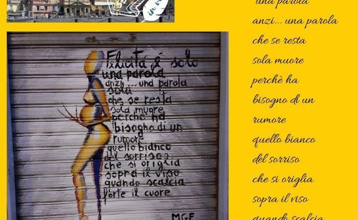 Attacco d'arte poetico per Piazza Mercato a Napoli: 20 artisti dipingono versi sulle saracinesche dei negozi