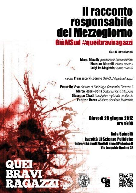 Raccontare il Mezzogiorno. Il Ministro Barca il 28 giugno a Napoli