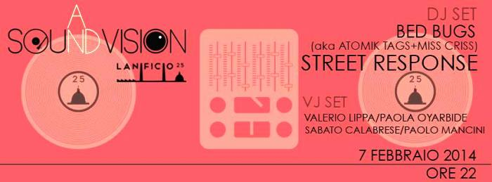 Sound and vision. Lanificio25 presenta Street Response + Bed Bugs + Vjset