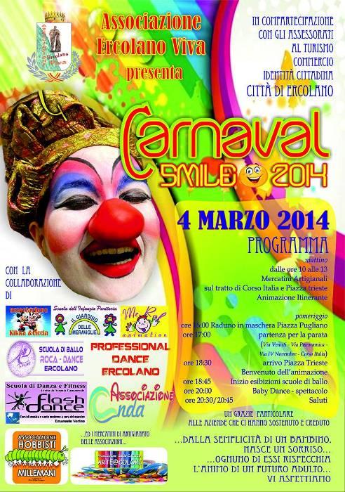 Ercolano, al via il Carnaval Smile 2014