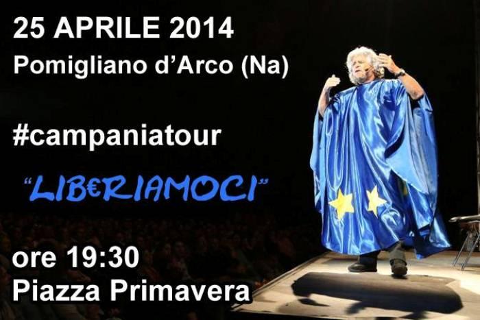 M5s: Il 25 Aprile il Campania Tour fa tappa a Pomigliano d'Arco