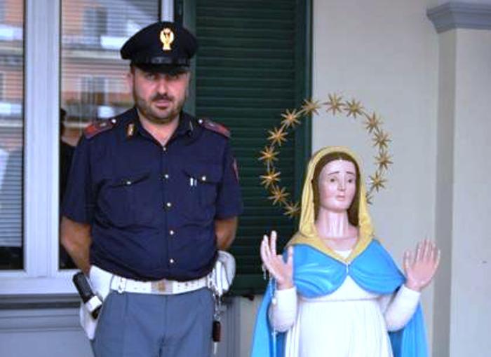 Ruba statua della Madonna denunciato un incensurato di Torre del Greco