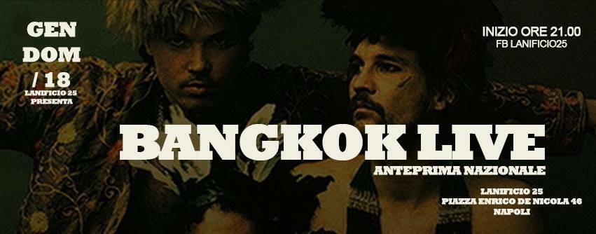 Domenica 18 Gennaio, al Lanificio 25, un viaggio tra diverse influenze musicali:Bangkok live in anteprima nazionale