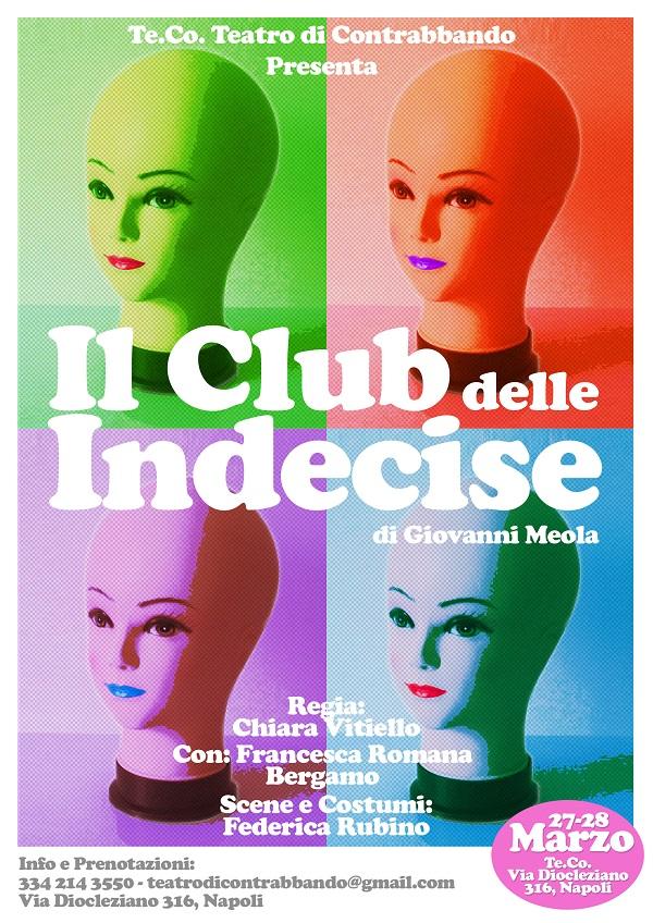 """L'Associazione Te.Co presenta """"Il club delle indecise"""" di Giovanni Meola"""