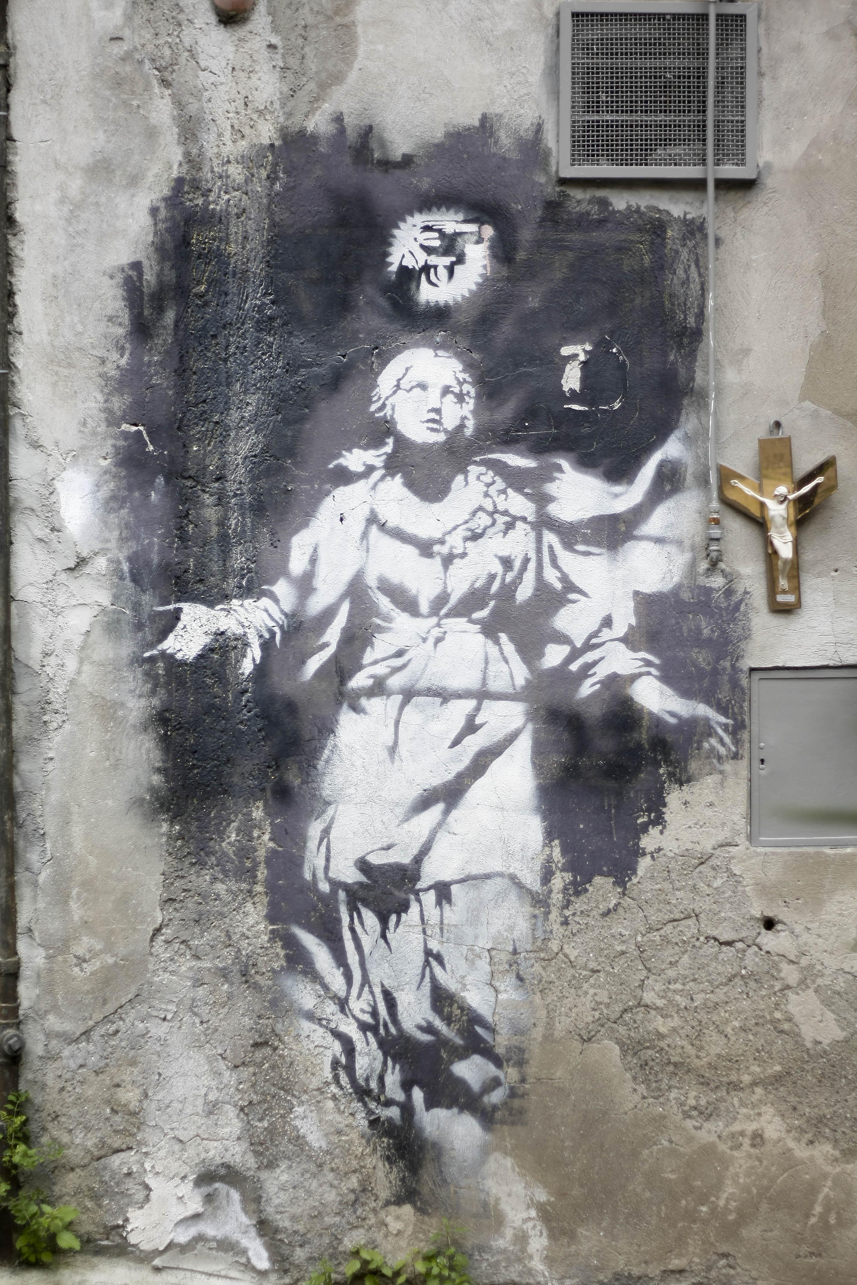 Inward, un osservatorio mondiale per la tutela della street art: salviamo la Madonna con la pistola di Banksy