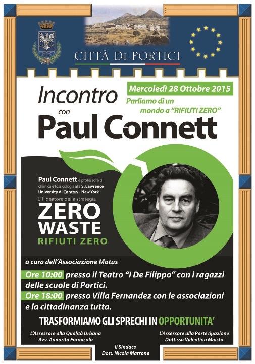 Ambiente, mercoledì l'incontro con Paul Connett, ideatore della strategia 'rifiuti zero'