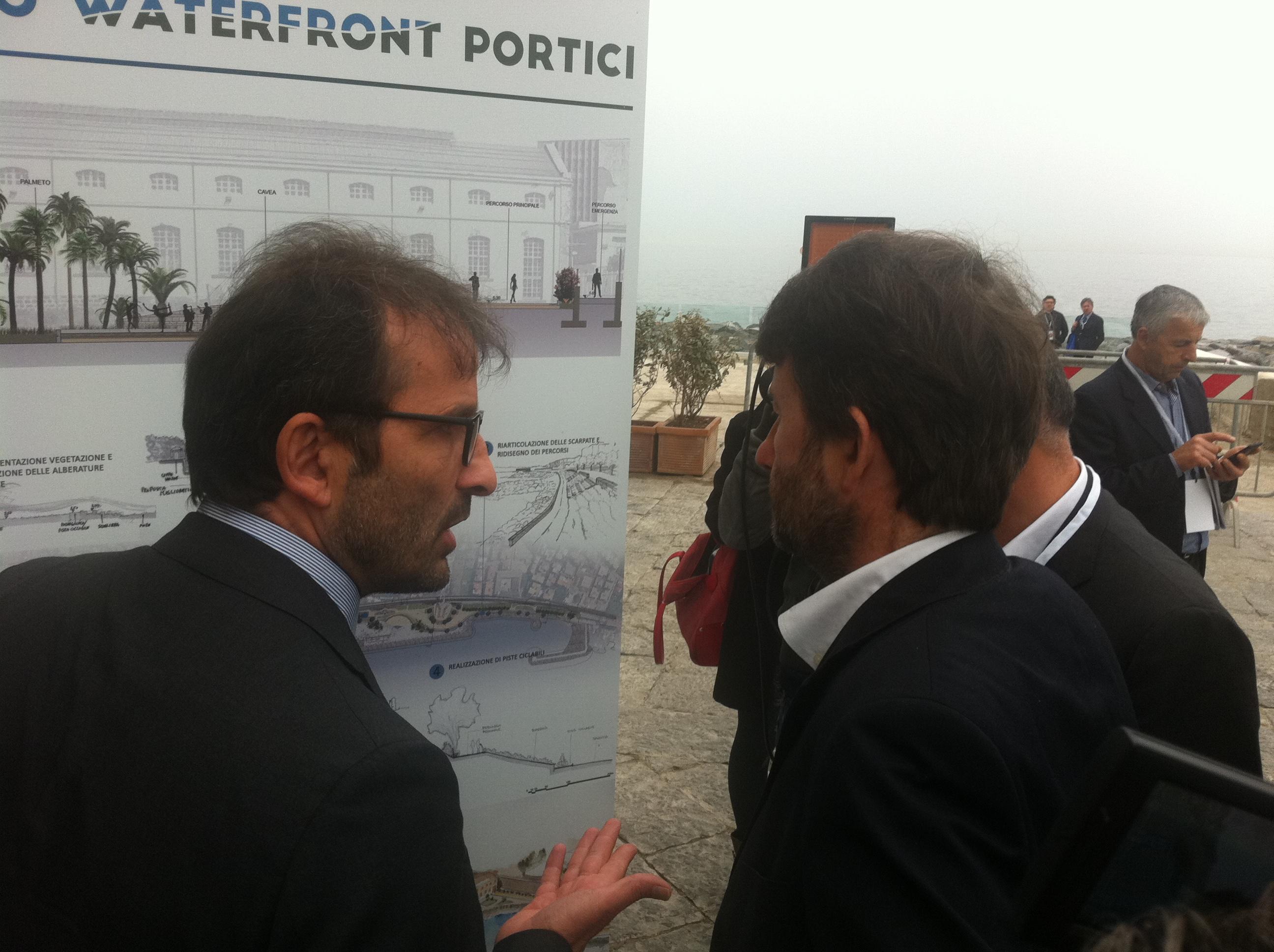 sindaco Nicola Marrone e ministroDario Franceschini