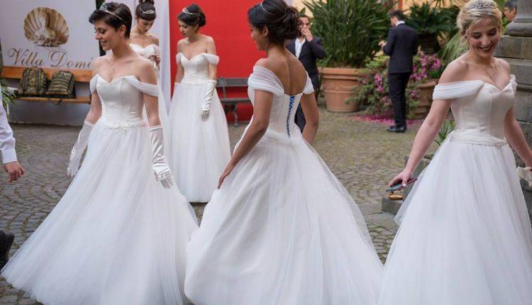 Gli abiti dell'Atelier Gifuni per il Gran Ballo delle debuttanti della scuola militare Nunziatella