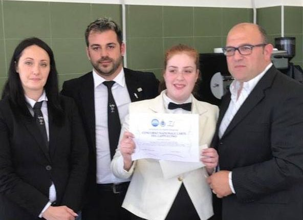 L'Istituto Tognazzi De Cillis di Pollena Trocchia premiato al concorso nazionale l'Arte del Cappuccino a La Spezia