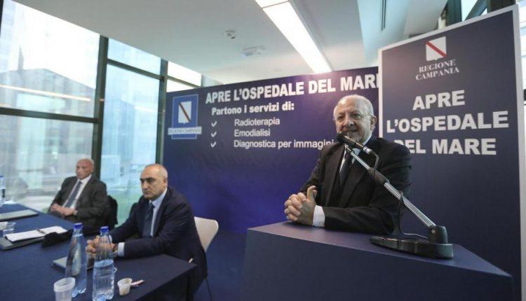 Il Governatore De Luca illustra il cronoprogramma: entro fine giugno apre l'Ospedale del Mare