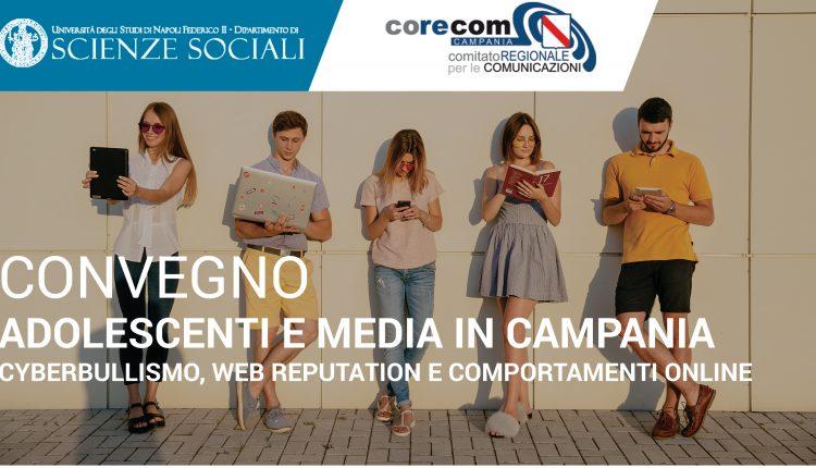 Adolescenti e Media in Campania. Cyberbullismo, Web reputation e comportamenti online: il convegno della Federico II, Co.Re.Com  e dell'Osservatorio Giovani