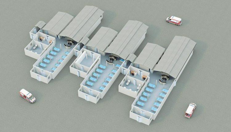 """Emergenza Coronavirus, la sfida """"cinese"""" di Ponticelli: un mini ospedale nel parcheggio in 18 giorni"""